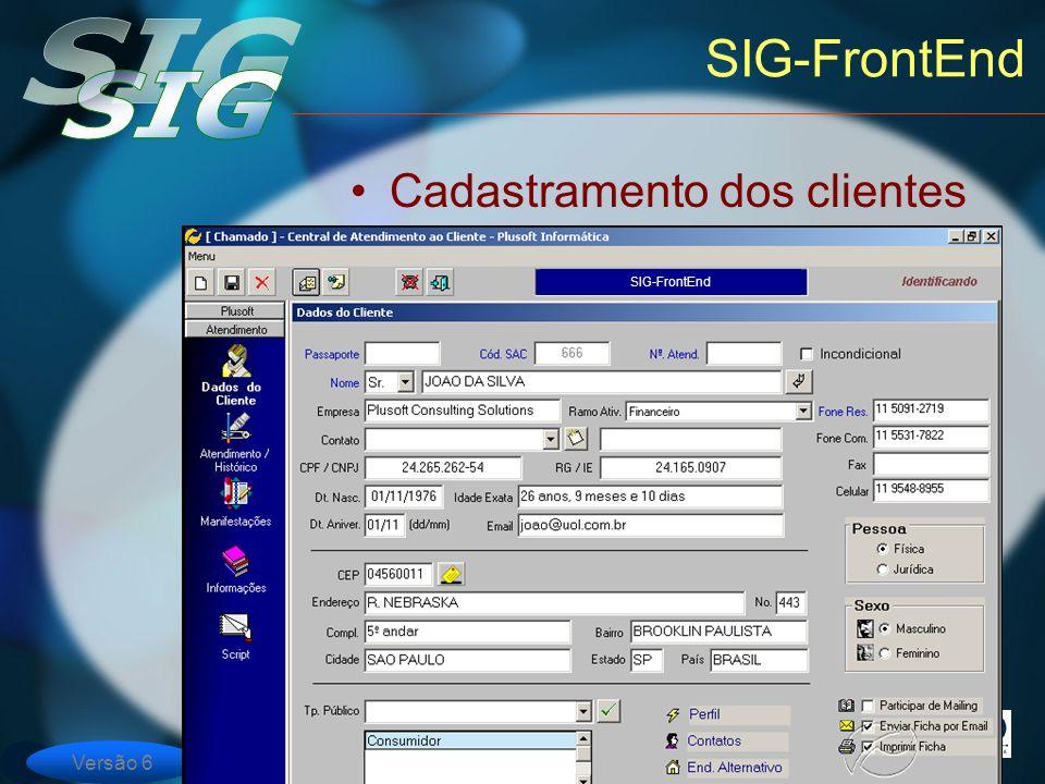 SIG-FrontEnd Cadastramento dos clientes SIG-FrontEnd