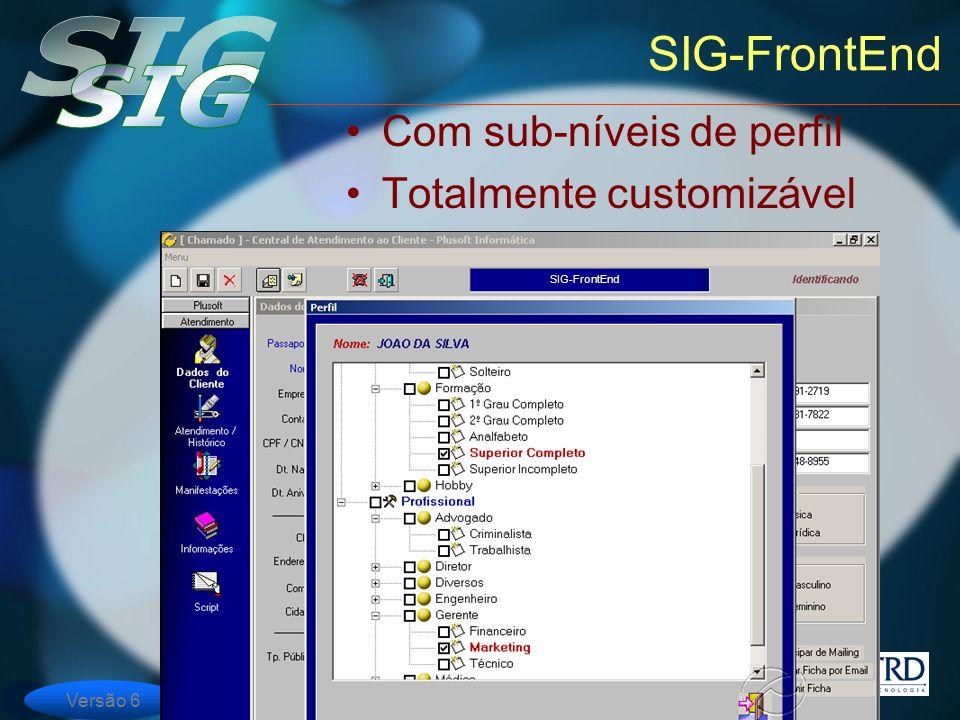 SIG-FrontEnd Com sub-níveis de perfil Totalmente customizável