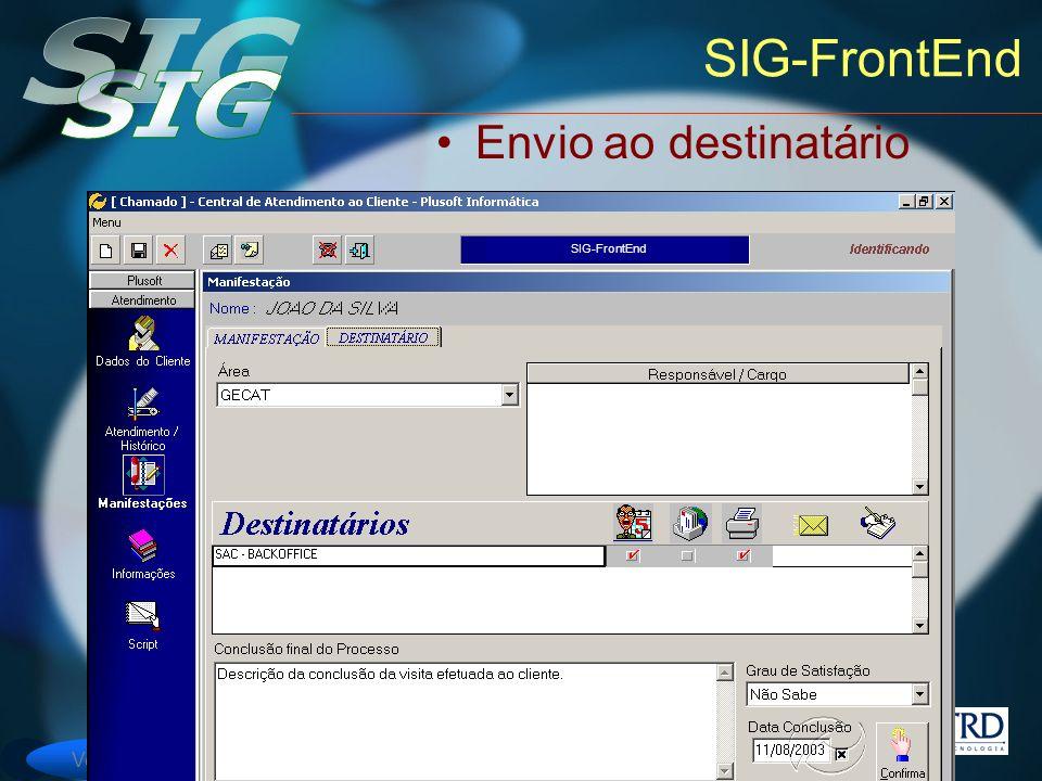SIG-FrontEnd Envio ao destinatário SIG-FrontEnd