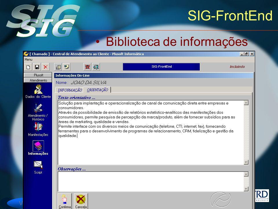 SIG-FrontEnd Biblioteca de informações SIG-FrontEnd