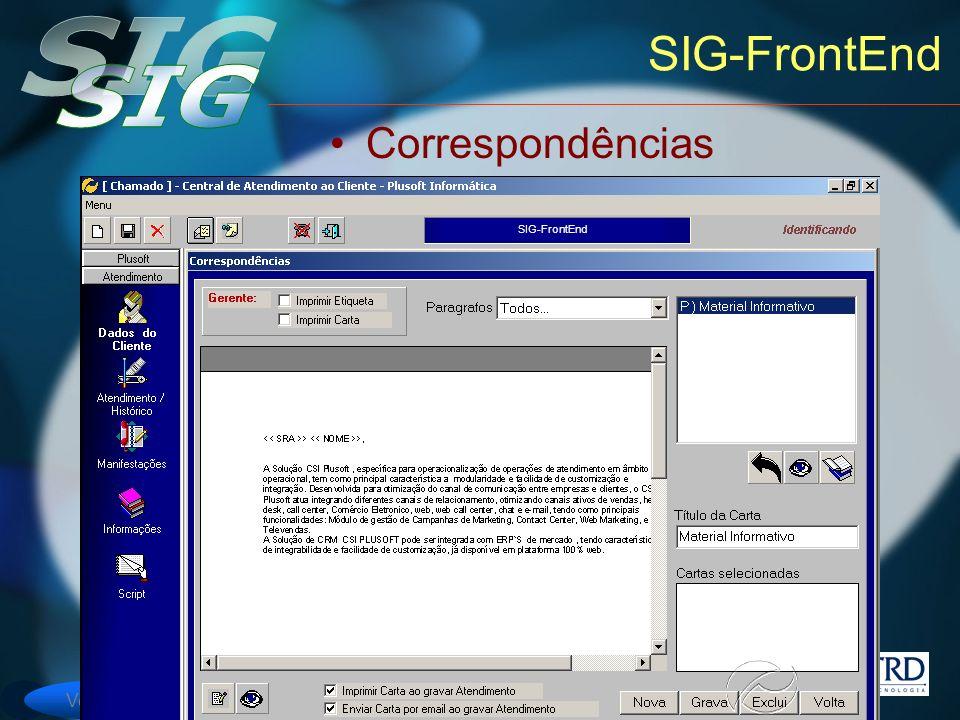 SIG-FrontEnd Correspondências SIG-FrontEnd