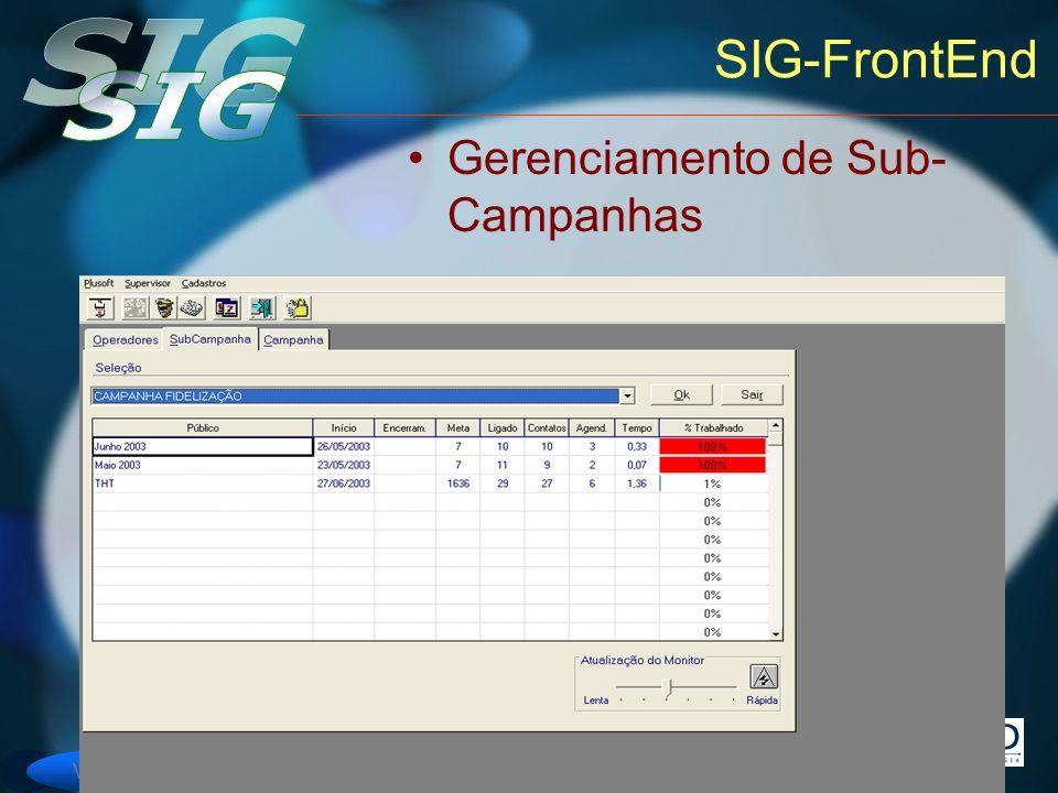 SIG-FrontEnd Gerenciamento de Sub-Campanhas