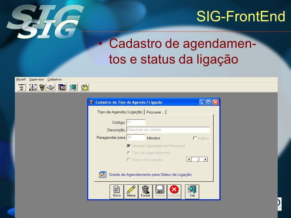 SIG-FrontEnd Cadastro de agendamen-tos e status da ligação