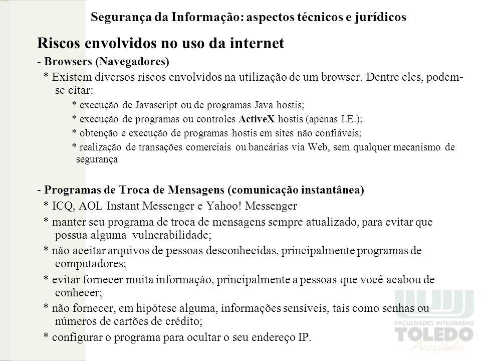 Segurança da Informação: aspectos técnicos e jurídicos