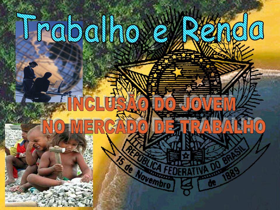 Trabalho e Renda INCLUSÃO DO JOVEM NO MERCADO DE TRABALHO