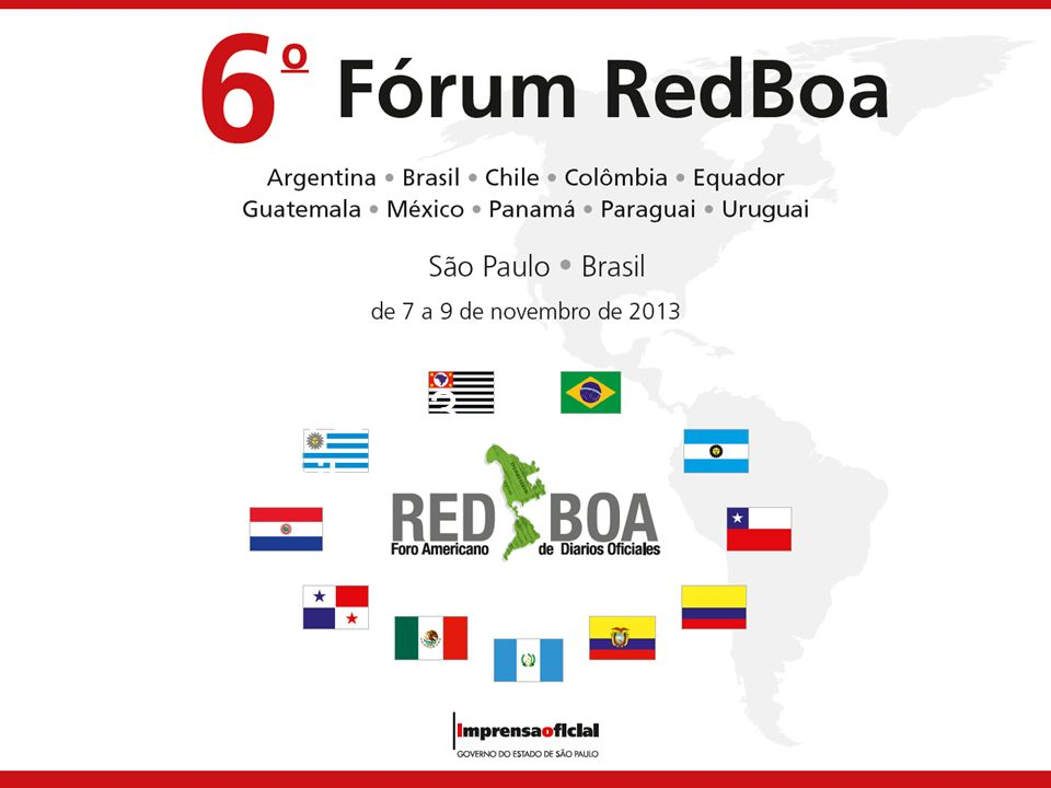 REDBOA 2013 Brasil 30 March 2017 Welcome.
