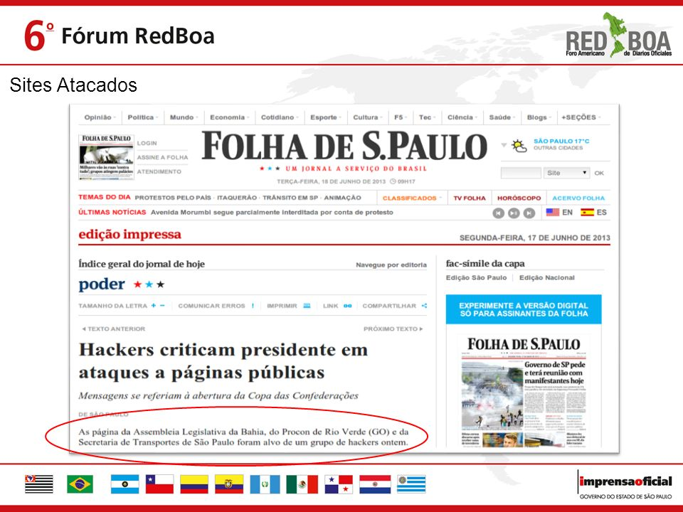 Sites Atacados