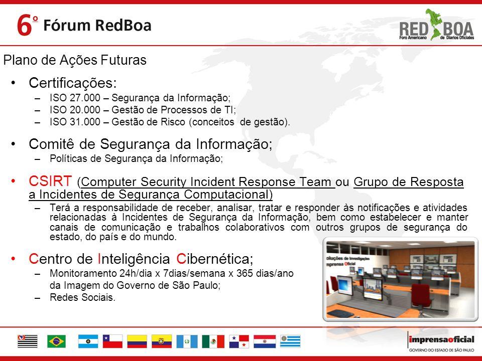 Comitê de Segurança da Informação;