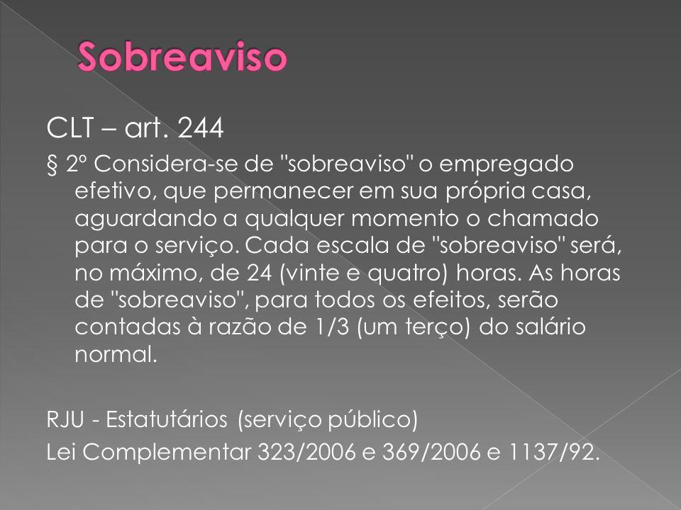 Sobreaviso CLT – art. 244.