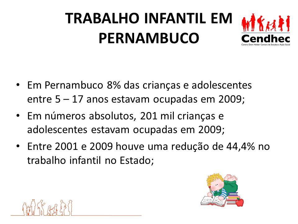 TRABALHO INFANTIL EM PERNAMBUCO