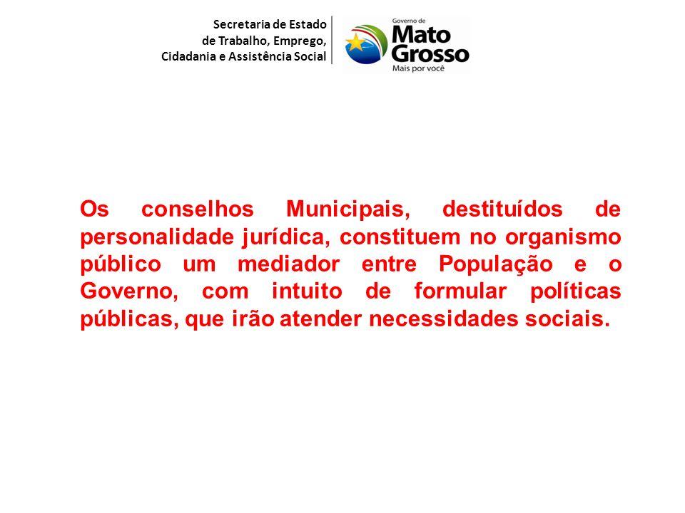 Secretaria de Estado de Trabalho, Emprego, Cidadania e Assistência Social.