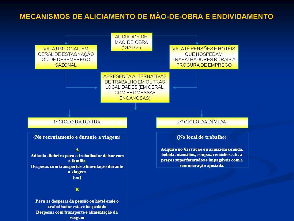 MECANISMOS DE ALICIAMENTO DE MÃO-DE-OBRA E ENDIVIDAMENTO