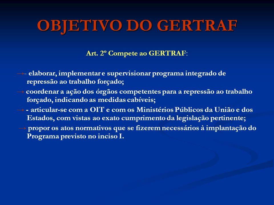 Art. 2º Compete ao GERTRAF: