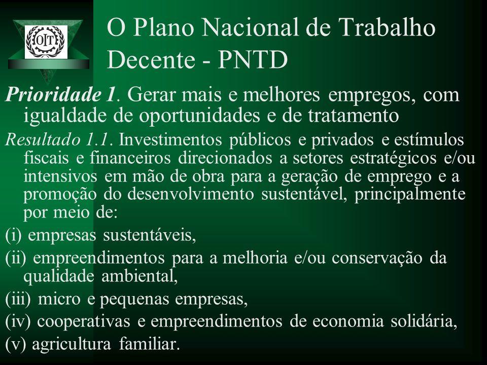 O Plano Nacional de Trabalho Decente - PNTD