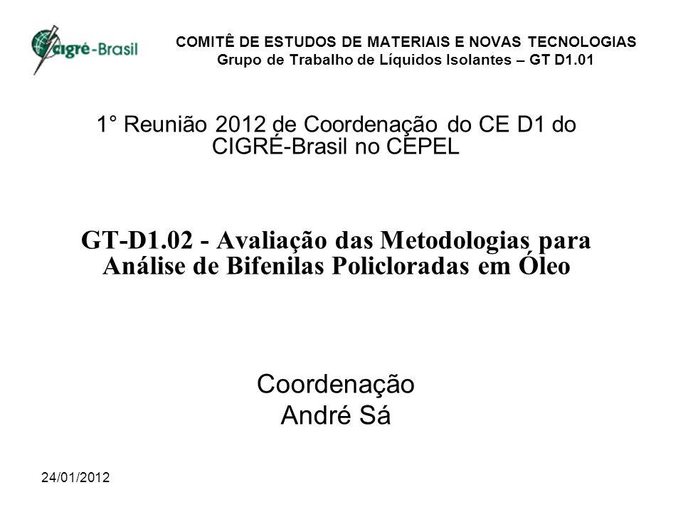 1° Reunião 2012 de Coordenação do CE D1 do CIGRÉ-Brasil no CEPEL