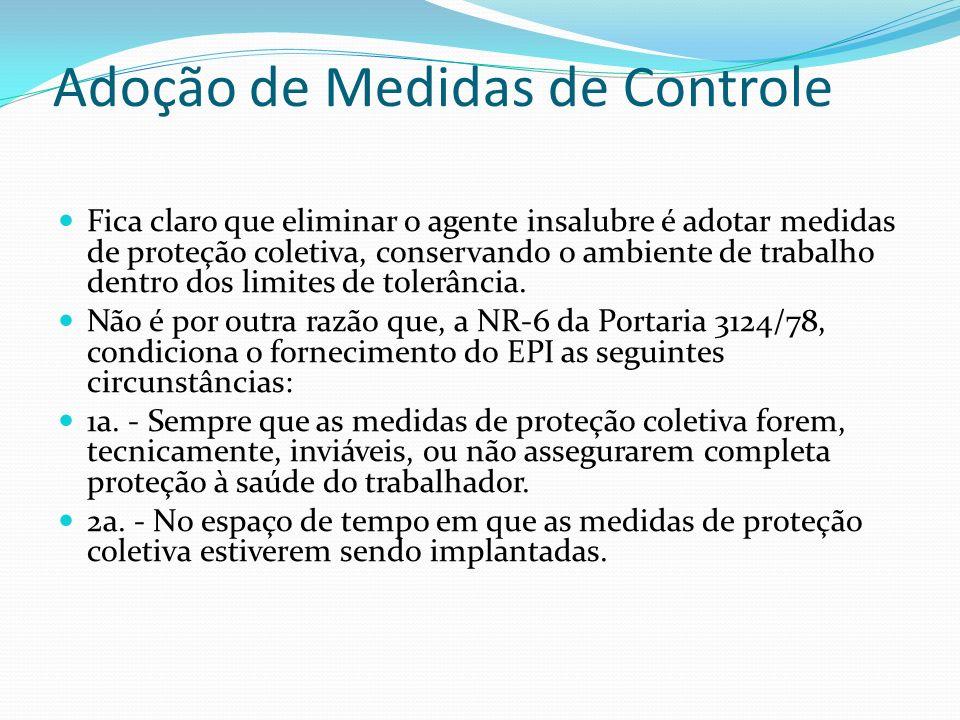 Adoção de Medidas de Controle