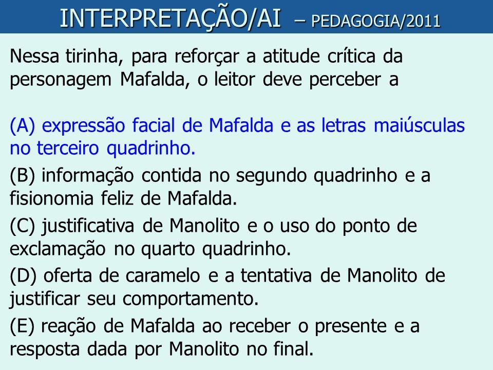 INTERPRETAÇÃO/AI – PEDAGOGIA/2011