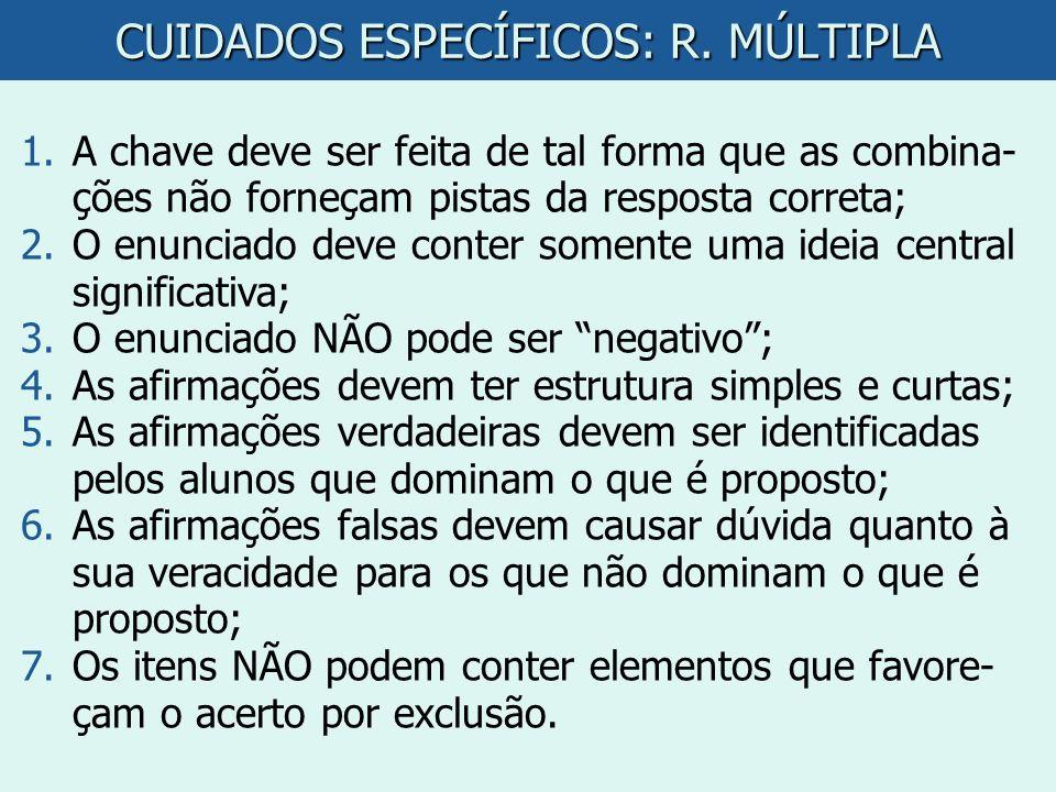 CUIDADOS ESPECÍFICOS: R. MÚLTIPLA