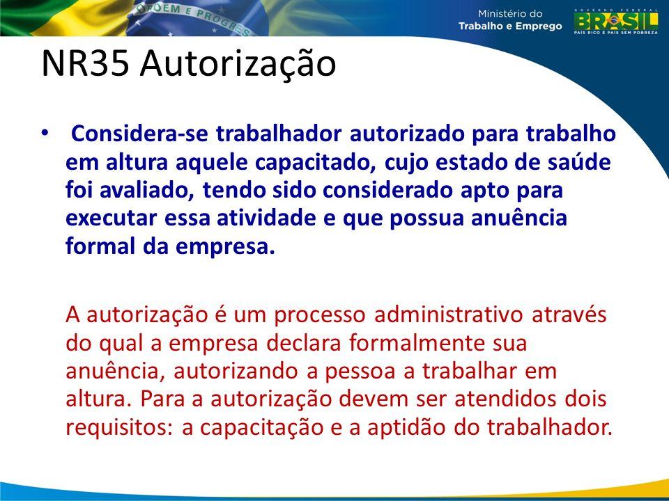 NR35 Autorização