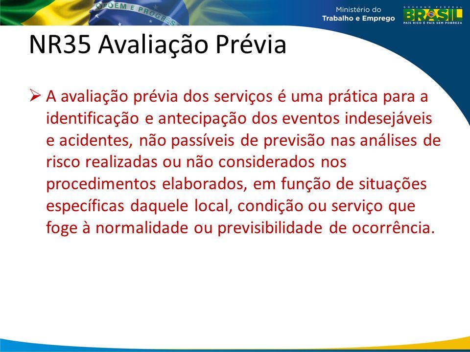 NR35 Avaliação Prévia