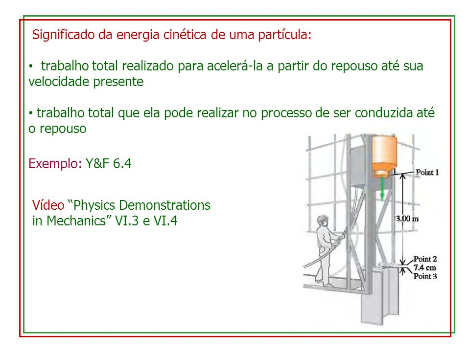Significado da energia cinética de uma partícula: