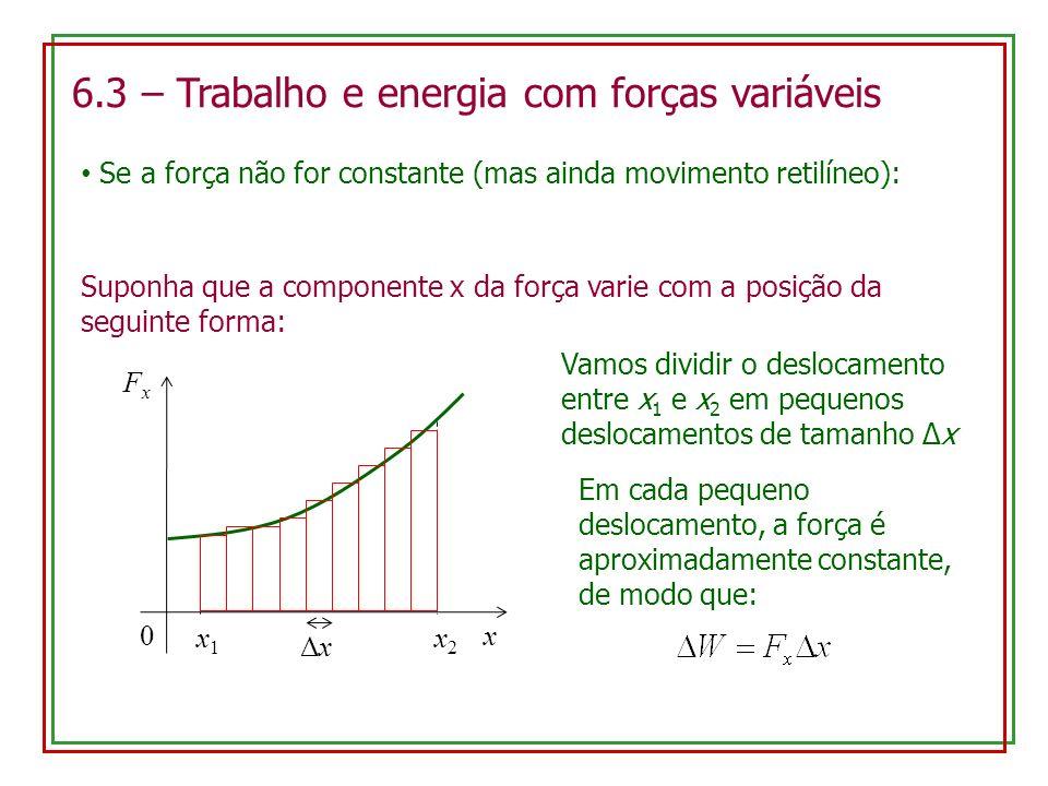 6.3 – Trabalho e energia com forças variáveis
