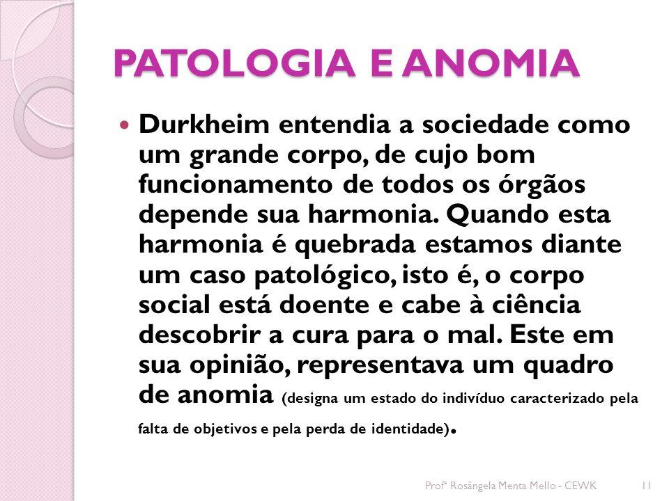 PATOLOGIA E ANOMIA