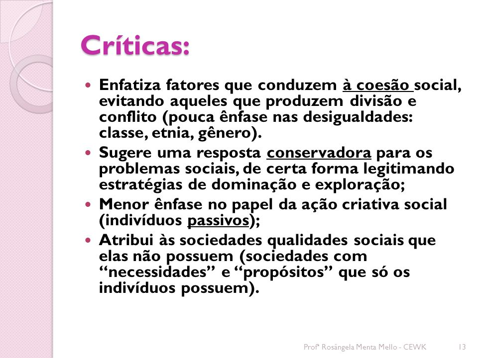 Críticas: