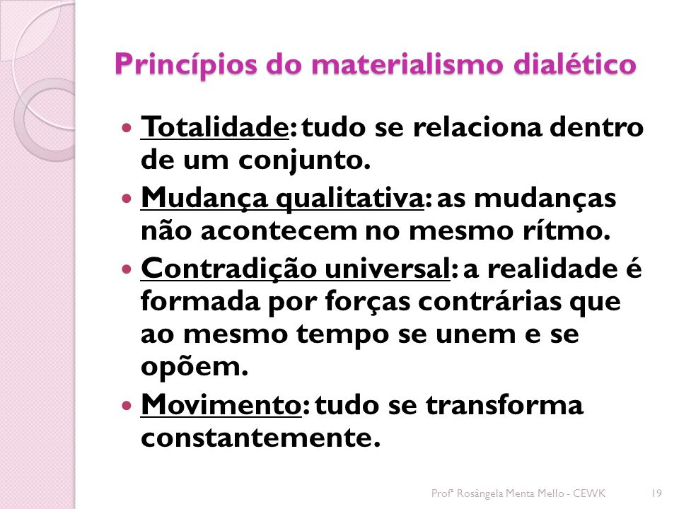 Princípios do materialismo dialético