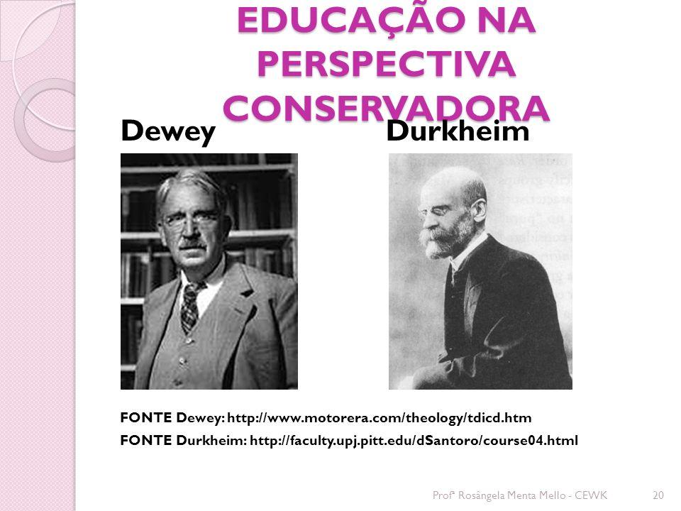 EDUCAÇÃO NA PERSPECTIVA CONSERVADORA