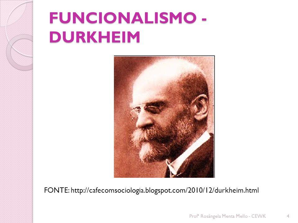 FUNCIONALISMO - DURKHEIM