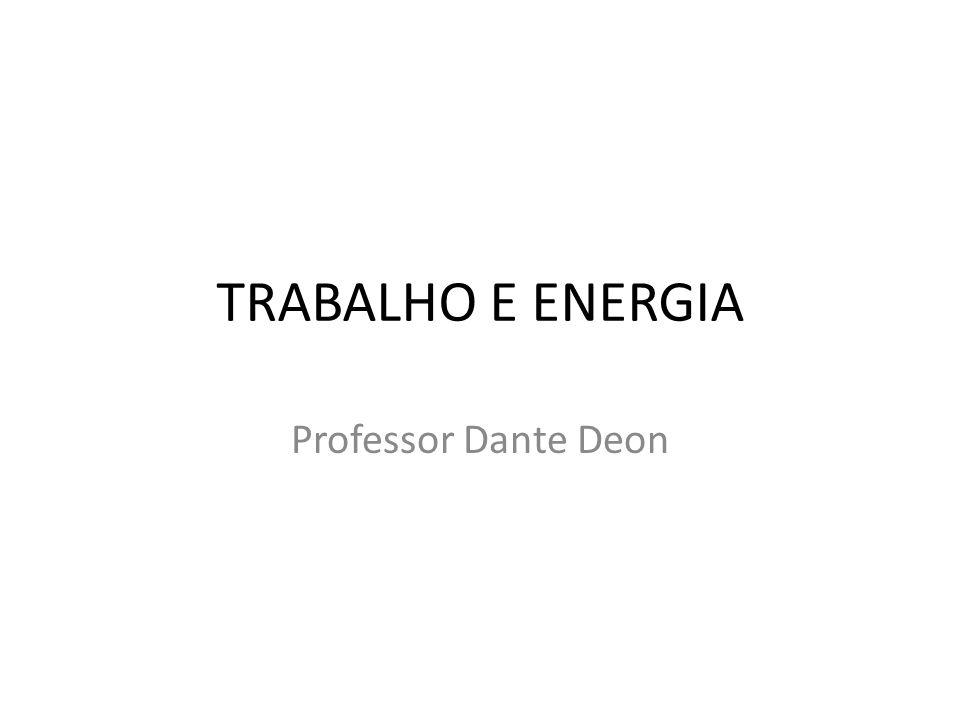 TRABALHO E ENERGIA Professor Dante Deon