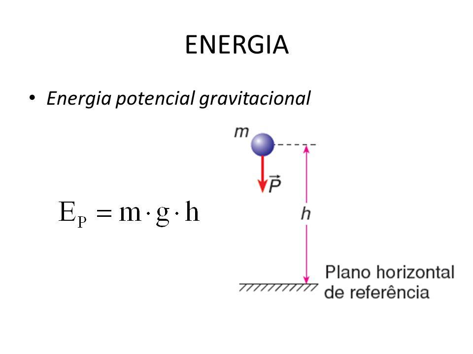 ENERGIA Energia potencial gravitacional