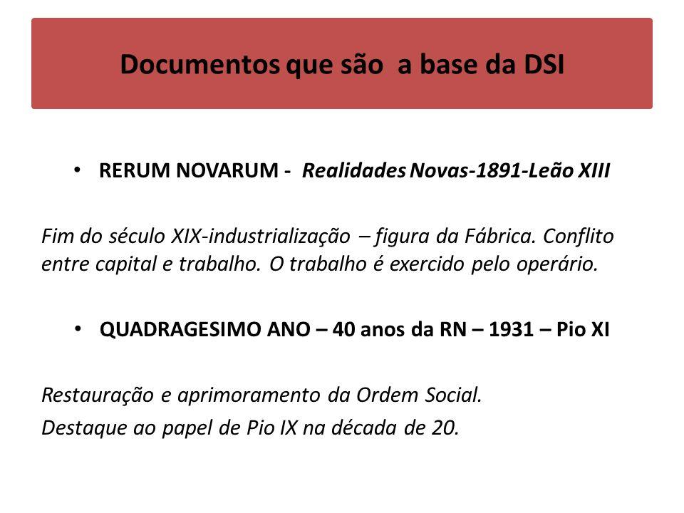 Documentos que são a base da DSI