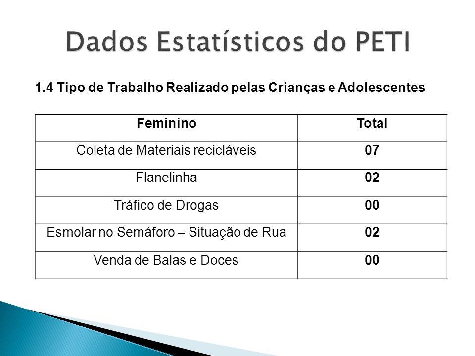Dados Estatísticos do PETI