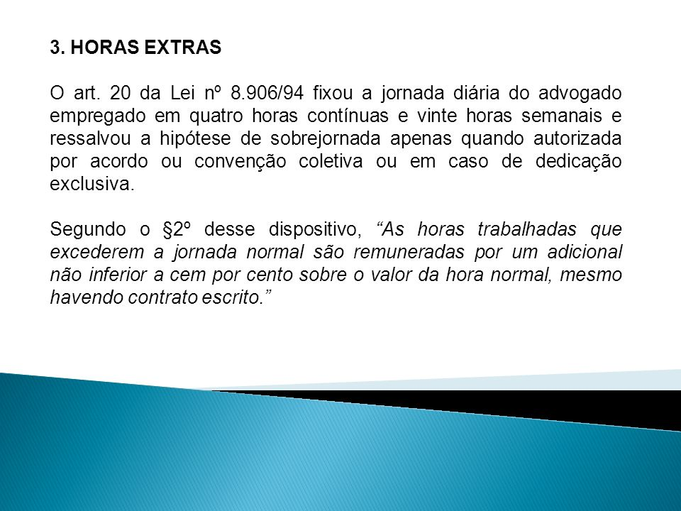 3. HORAS EXTRAS