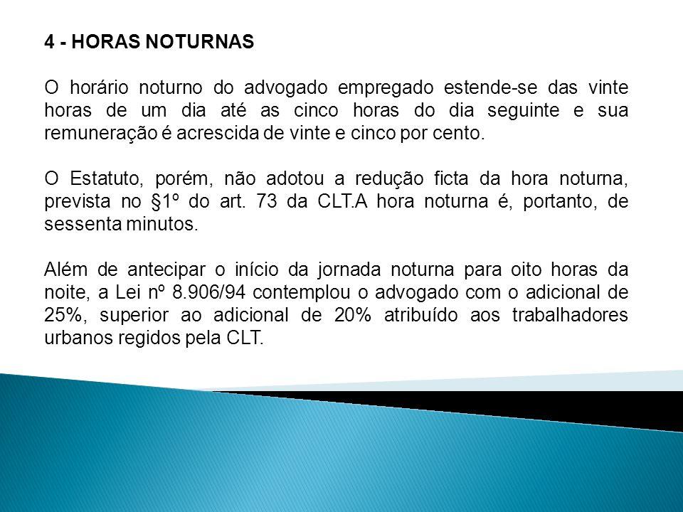 4 - HORAS NOTURNAS