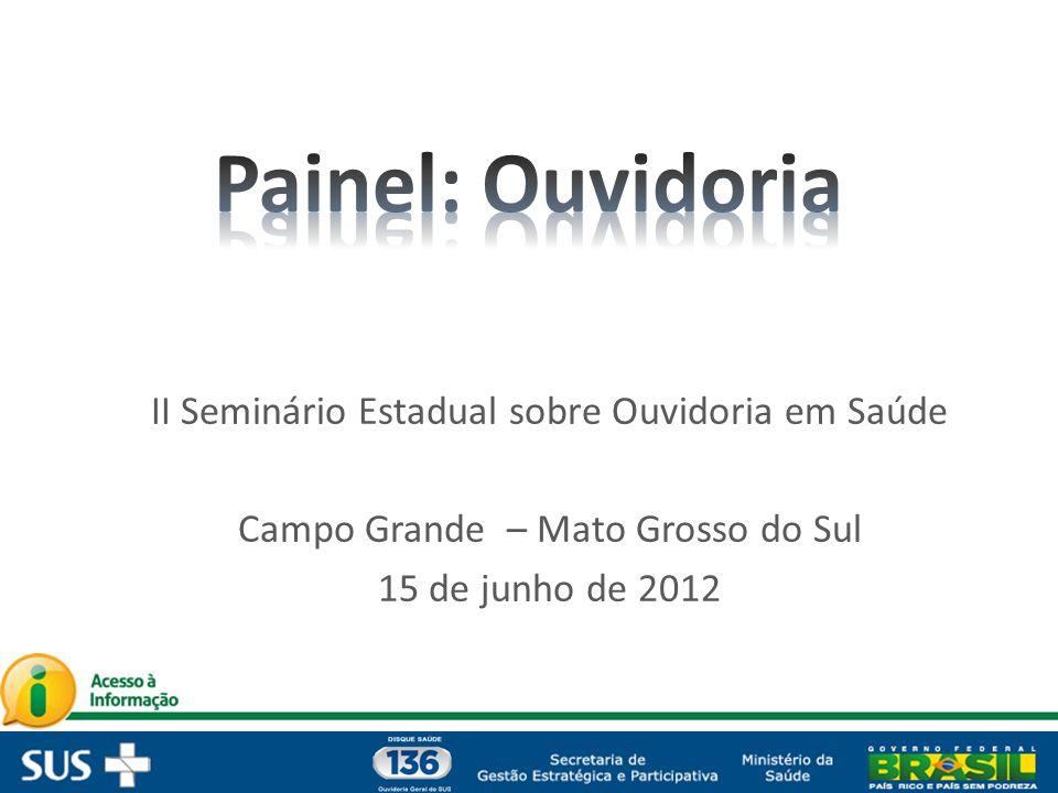 Painel: Ouvidoria II Seminário Estadual sobre Ouvidoria em Saúde
