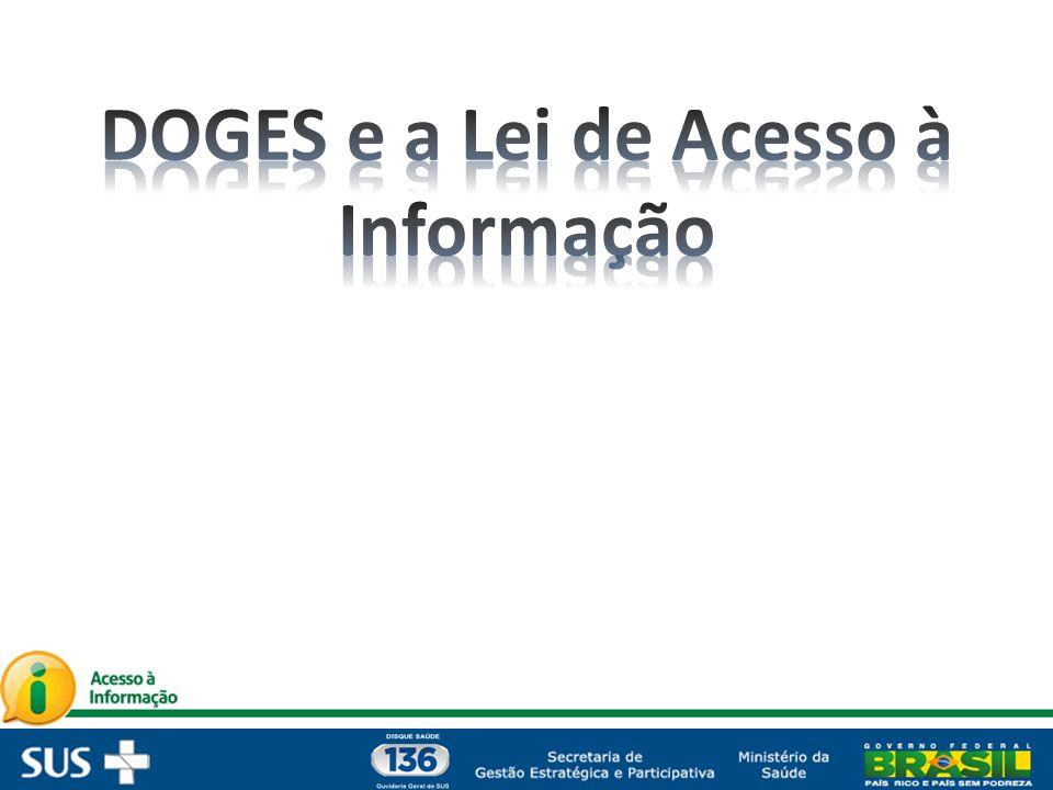 DOGES e a Lei de Acesso à Informação