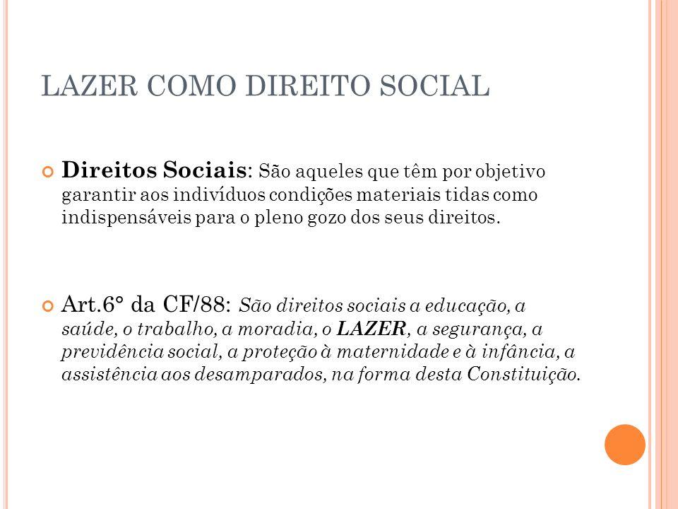 LAZER COMO DIREITO SOCIAL