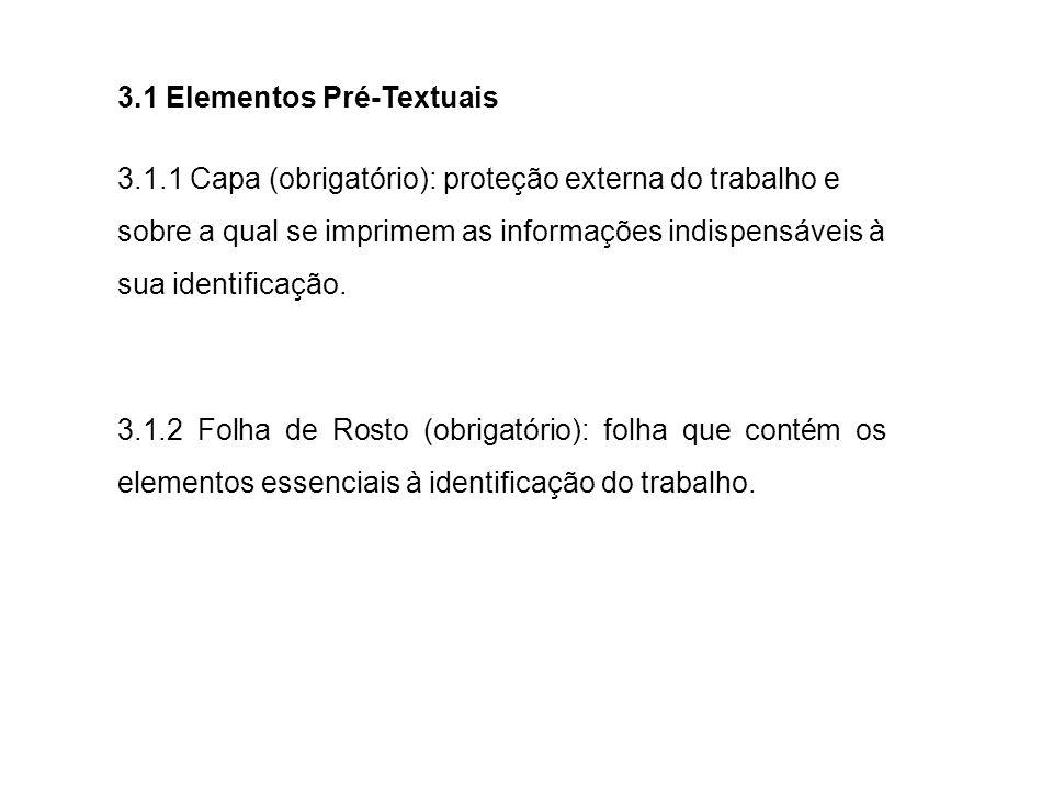 3.1 Elementos Pré-Textuais