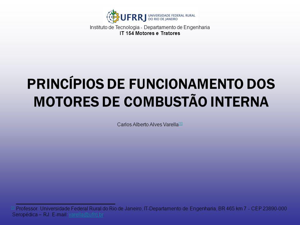 PRINCÍPIOS DE FUNCIONAMENTO DOS MOTORES DE COMBUSTÃO INTERNA