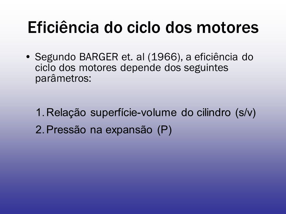 Eficiência do ciclo dos motores