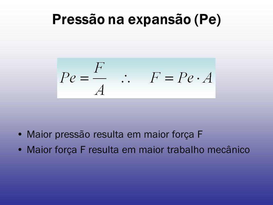 Pressão na expansão (Pe)