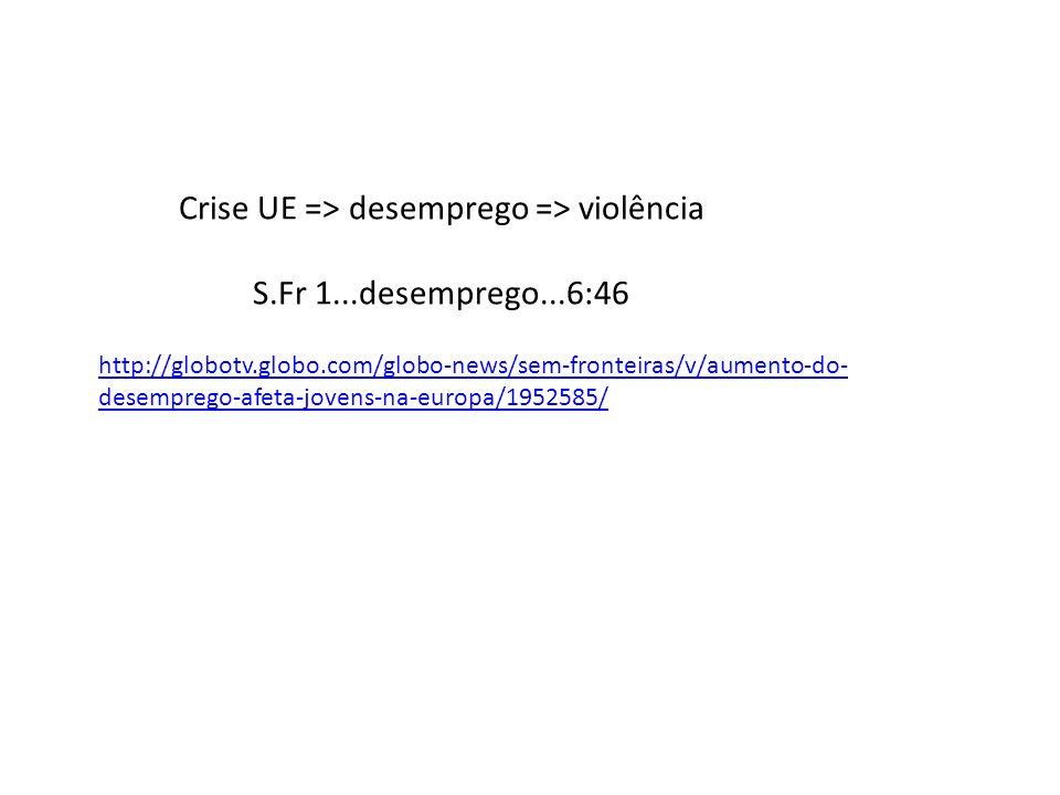 Crise UE => desemprego => violência