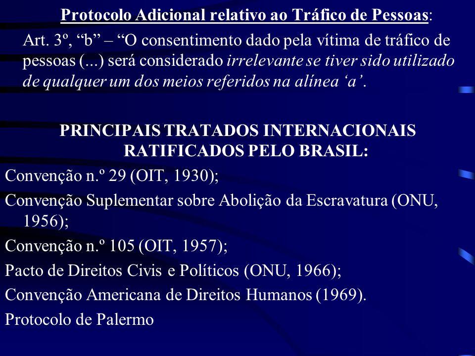PRINCIPAIS TRATADOS INTERNACIONAIS RATIFICADOS PELO BRASIL: