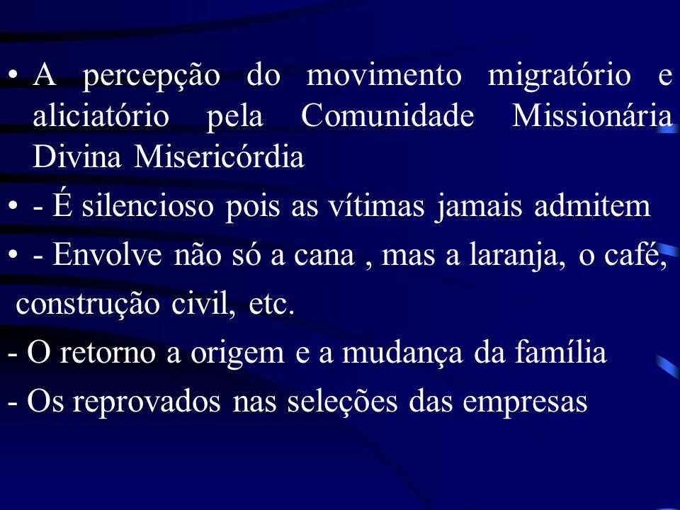 A percepção do movimento migratório e aliciatório pela Comunidade Missionária Divina Misericórdia