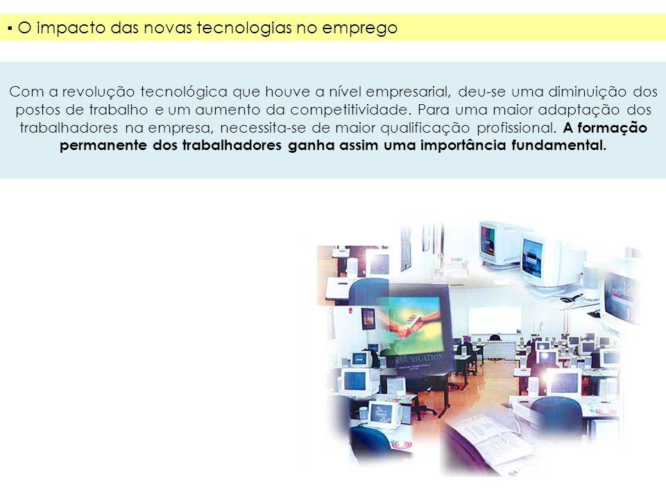 ▪ O impacto das novas tecnologias no emprego