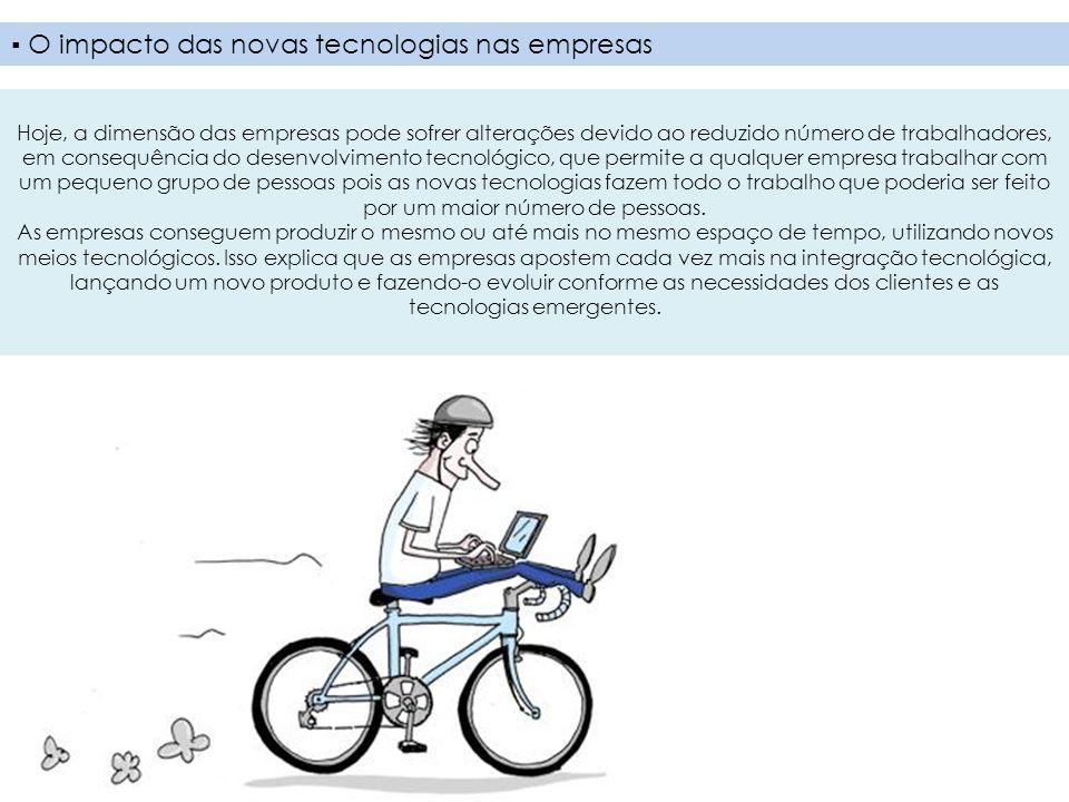 ▪ O impacto das novas tecnologias nas empresas