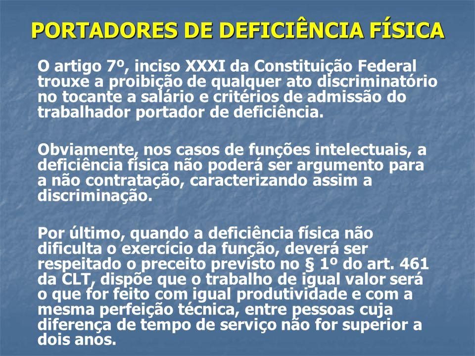 PORTADORES DE DEFICIÊNCIA FÍSICA
